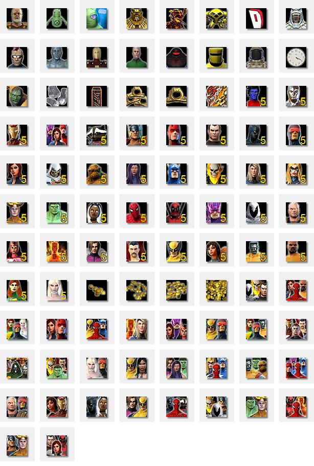 Элемент интерфейса Достижений Marvel Heroes