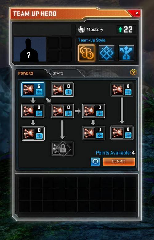 Marvel Heroes: макет нового интерфейса напарников