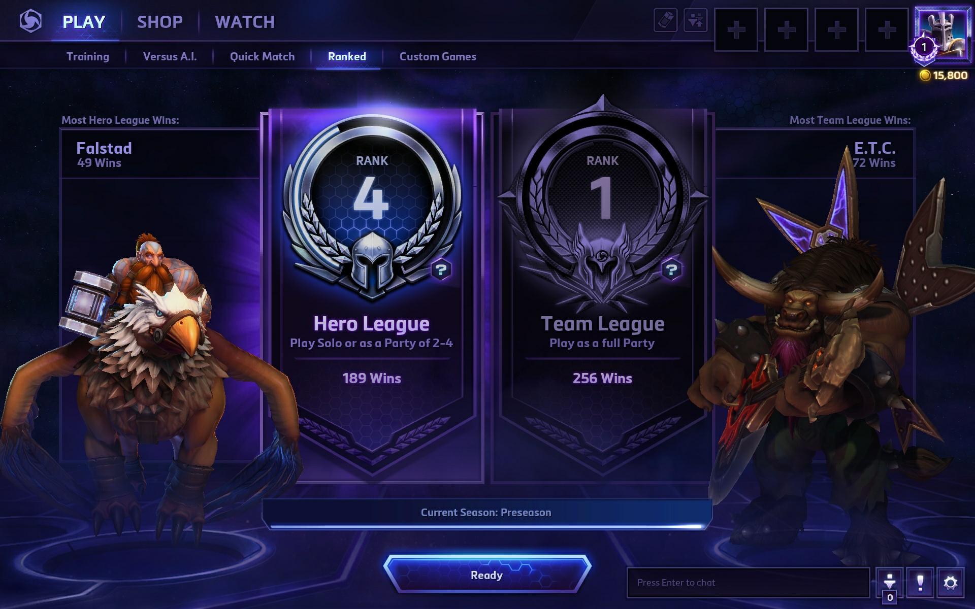 Heroes of the Storm: рейтинговые игры