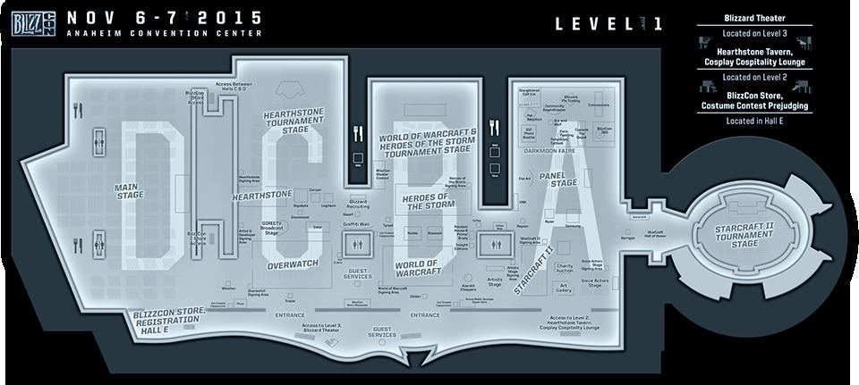 Схема BlizzCon 2015