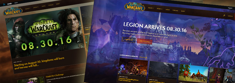 World of Warcraft: новый официальный сайт 26 июля