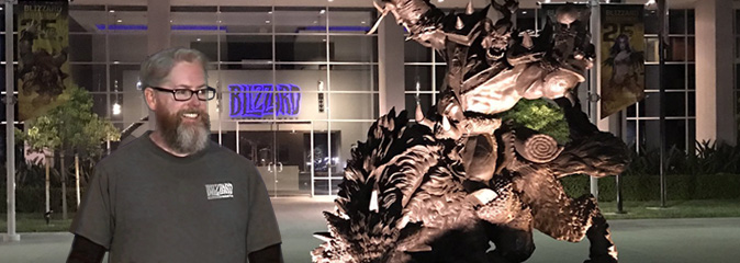 Дэвид Бревик посетил офис Blizzard Entertainment
