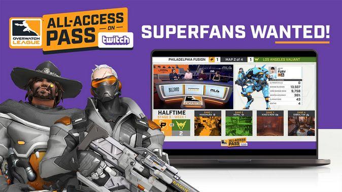 Overwatch League: пропуск All-Access на Twitch