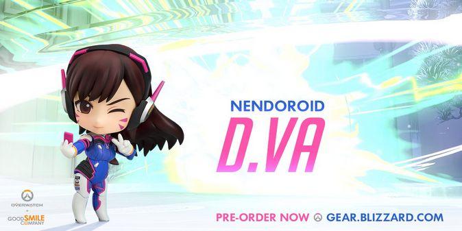 Мастерская Blizzard: фигурка D.Va из серии Nendoroid Overwatch