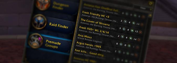 World of Warcraft: разработчики запретили рекламу в поиске групп