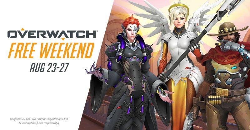 Overwatch: бесплатные выходные 23-27 августа