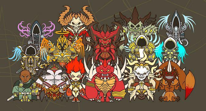 Мастерская сообщества: стилизованные изображения персонажей Diablo