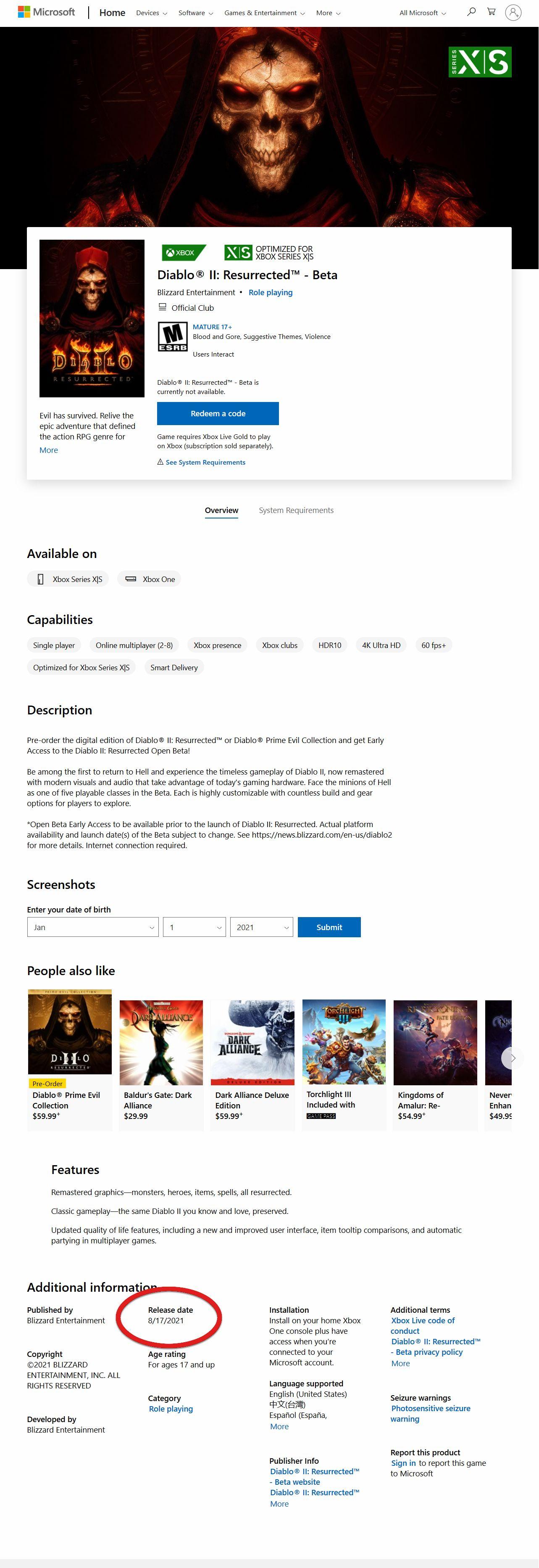 Diablo II Resurrected: возможная утечка даты начала бета-тестирования